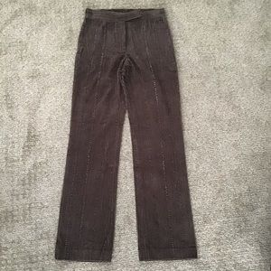 DKNY Brown Corduroy Pants With Beading, Size 4